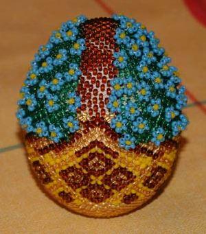Пасхальные яйца украшение бисером